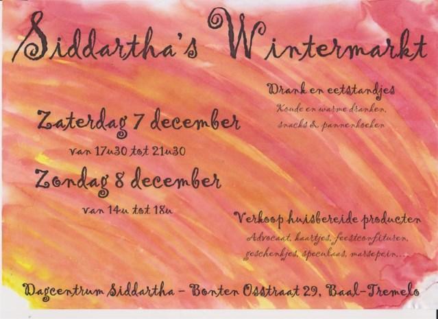 Siddartha houdt Wintermarkt