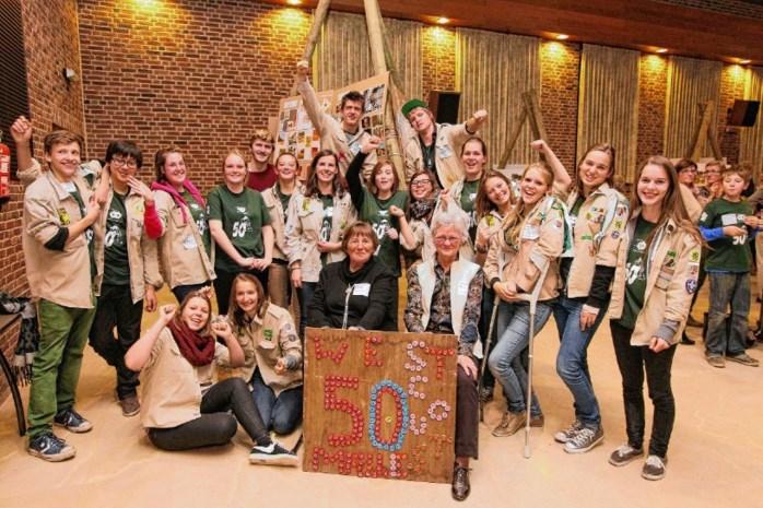 Scouts vieren vijftigjarig bestaan
