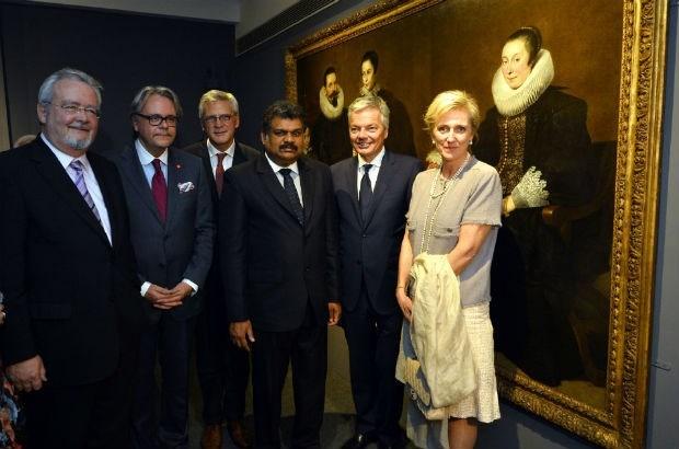 Prinses Astrid opent Antwerpse baroktentoonstelling in India