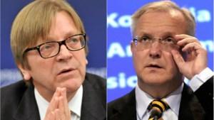 Mark Rutte moet bemiddelen tussen Verhofstadt en Rehn