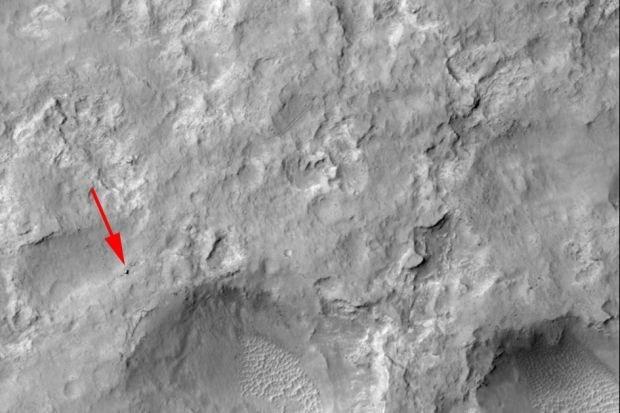 Blik op de Ruimte: Curiosity gespot!