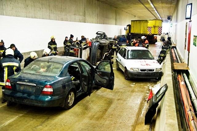 Grootschalige rampoefening in nieuwe tunnel tussen Geel en Kasterlee