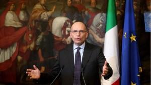 Italiaanse premier Enrico Letta neemt ontslag