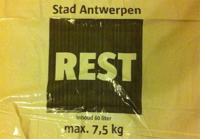Antwerpse vuilniszakken zijn van slechte kwaliteit