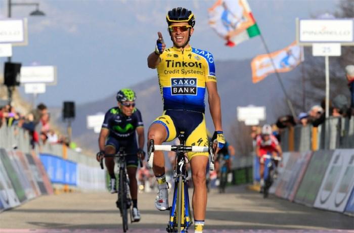 Contador wint vierde rit in Tirreno