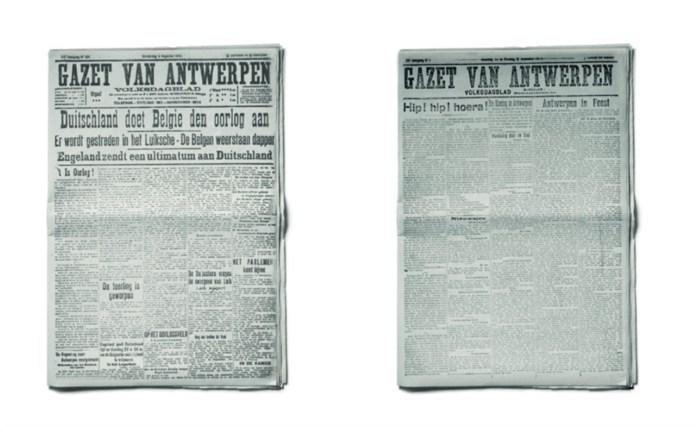 Oorlogskrant uit 1918 vandaag gratis bij Gazet van Antwerpen