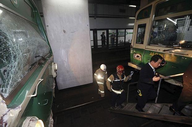 170 gewonden bij botsing van metro in Seoel