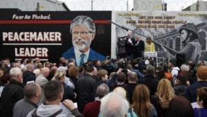 Honderden protesteren in Belfast tegen arrestatie Gerry Adams