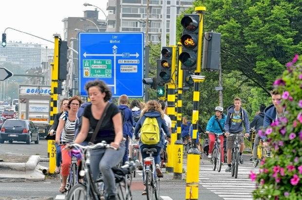 Nieuw fietspad op Noordersingel