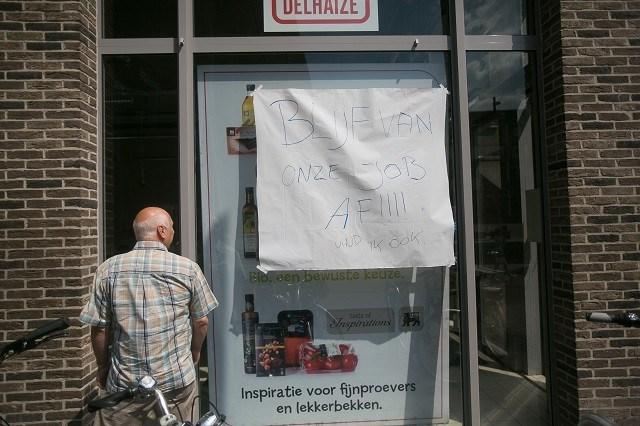 Twaalf winkels Delhaize niet opengegaan zaterdagochtend