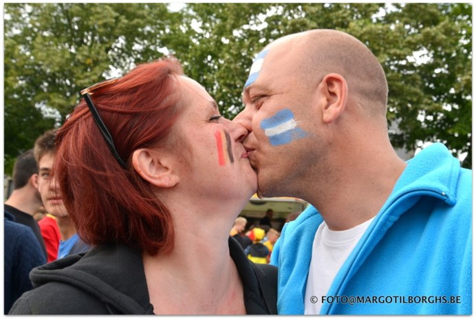 België-Argentinië: It all ended with a kiss!