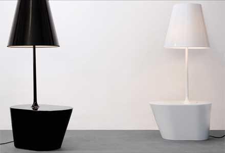 Lamp en tafel ineen