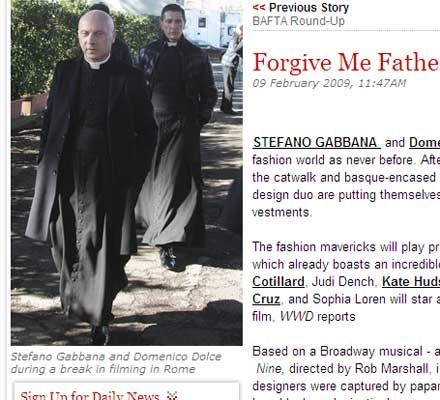 Dolce en Gabbana vinden roeping in klooster