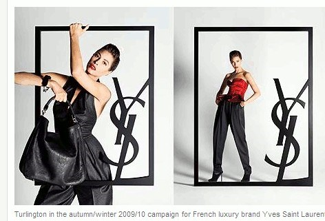 Christy Turlington is alweer te zien voor Yves Saint Laurent