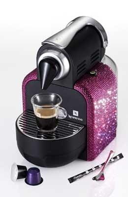 Swarovski lanceert kristallen Nespressotoestel