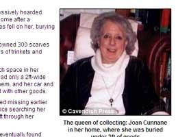 Shopaholic vindt dood onder eigen kledingstapel