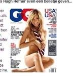 Naakte Jennifer Aniston laat Hugh Hefner niet onberoerd