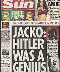 """""""Michael Jackson prees Hitler als geniaal redenaar"""""""